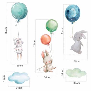 naklejki-na-sciane-dla-dzieci-kroliczki-z-balonami