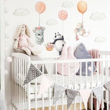 naklejki-na-sciane-dla-dzieci-zwierzatka-z-balonami