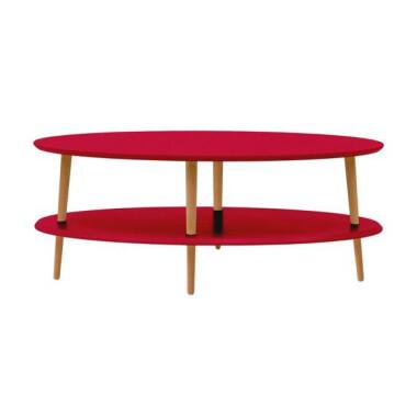 Stolik Kawowy OVO LOW 110x70 cm czerwony