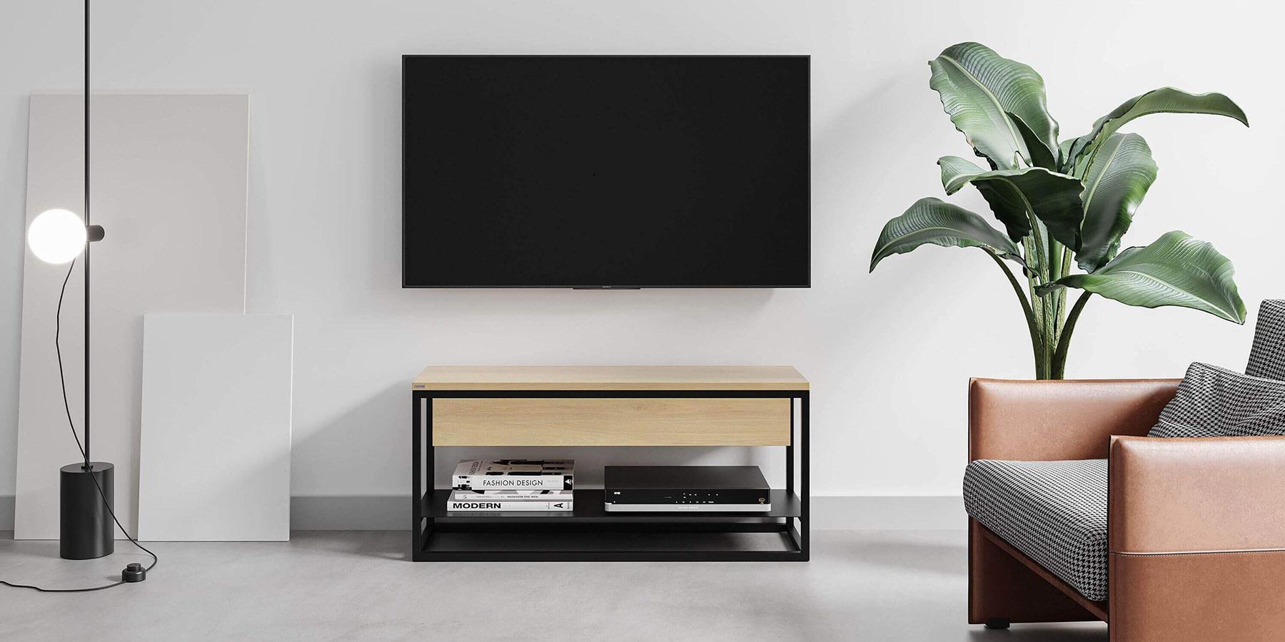 polka-szafka-pod-telewizor-z-szuflada